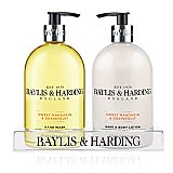 Baylis & Harding Sweet Mandarin & Grapefruit 500ml Hand Wash and Hand Lotion Set