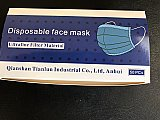 Ultrafine 3 ply disposable face masks 50 in a box