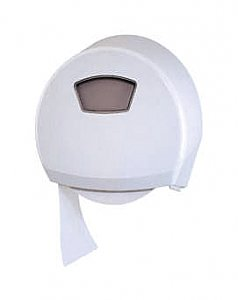 Jumbo Ellipse Toilet Roll Dispenser, White