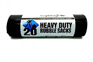 20 Heavy Duty Rubble Sacks 30L 320 Gauge